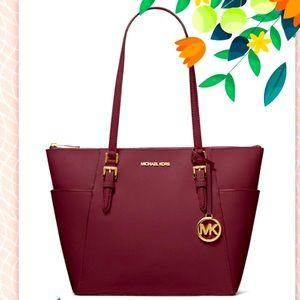 NWT MIchael Kors Charlotte Large leather Tote Bag